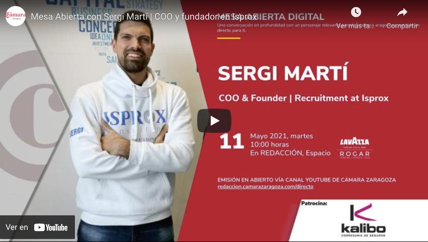 Entrevista a Sergi Martí de Isprox en Cámara Zaragoza