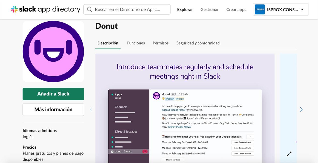 Mantener un equipo motivado en situación de teletrabajo. App de Donut para Slack